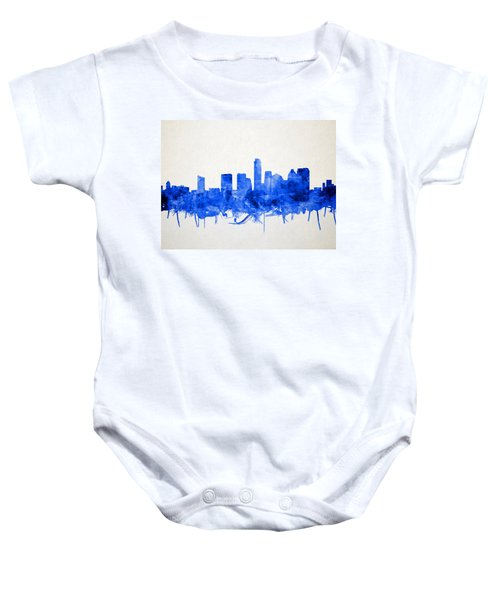 Austin Texas Skyline Watercolor 5 Baby Onesie