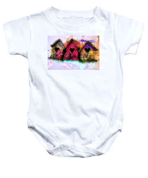Baby Birdhouses Baby Onesie