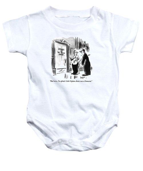 Bad News, I'm Afraid.  Little Orphan Annie Baby Onesie by Lee Lorenz