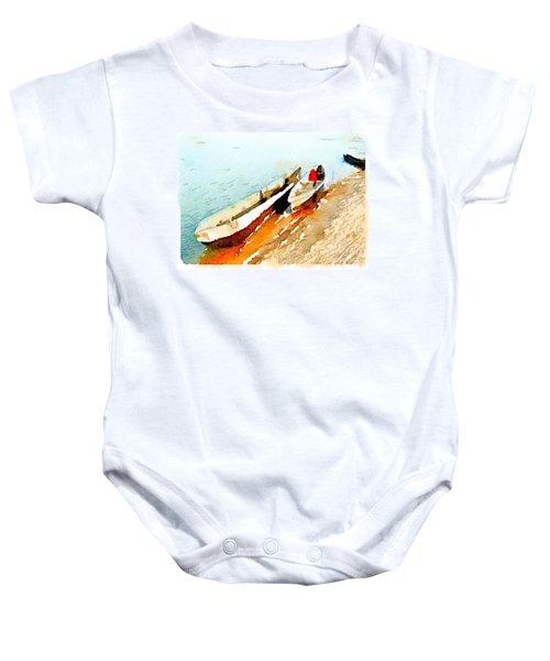 Barques Sur Le Chari Baby Onesie
