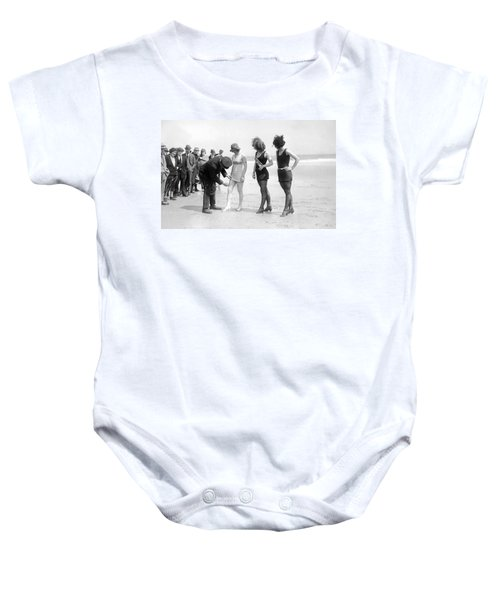 Bathing Suit Fashion Police Baby Onesie