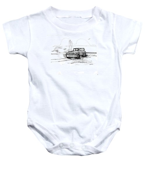 Beach Buggy Ocracoke 1970s Baby Onesie