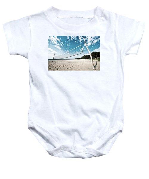 Beach Volleyball Net Baby Onesie