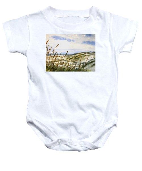 Beach Watercolor 3-19-12 Julianne Felton Baby Onesie