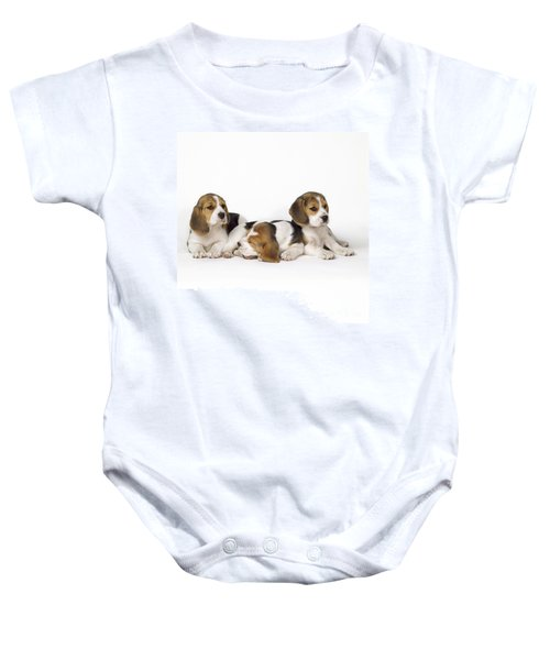 Beagle Puppies, Row Of Three, Second Baby Onesie