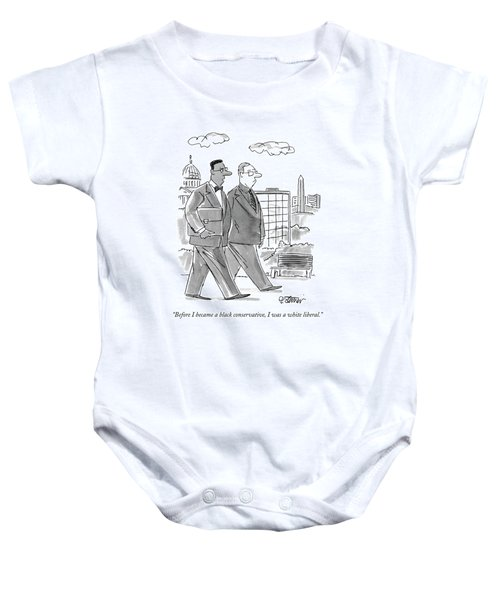Before I Became A Black Conservative Baby Onesie