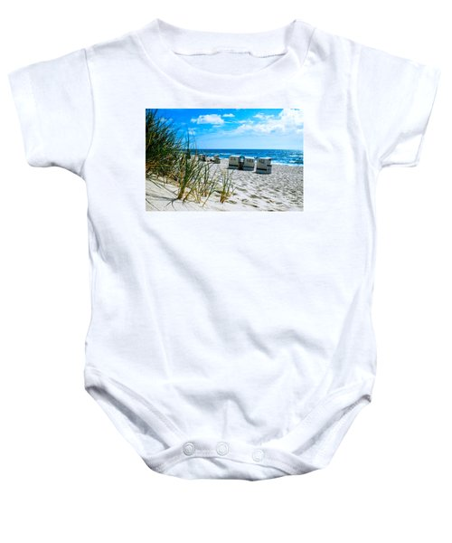 Behind The Dunes -light Baby Onesie