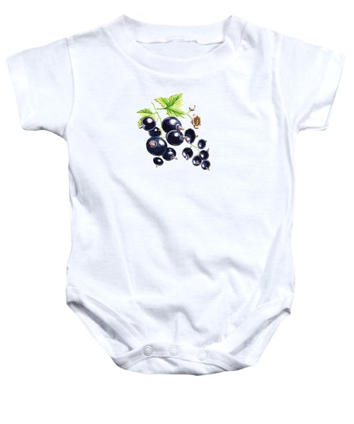Baby Onesie featuring the painting Blackcurrant Berries  by Irina Sztukowski