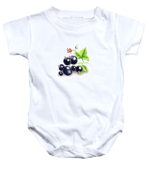 Baby Onesie featuring the painting Blackcurrant Still Life by Irina Sztukowski
