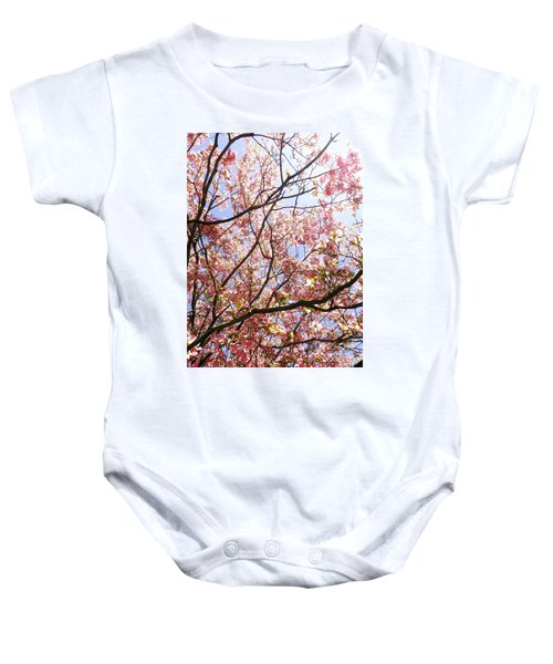 Blossoming Pink Baby Onesie