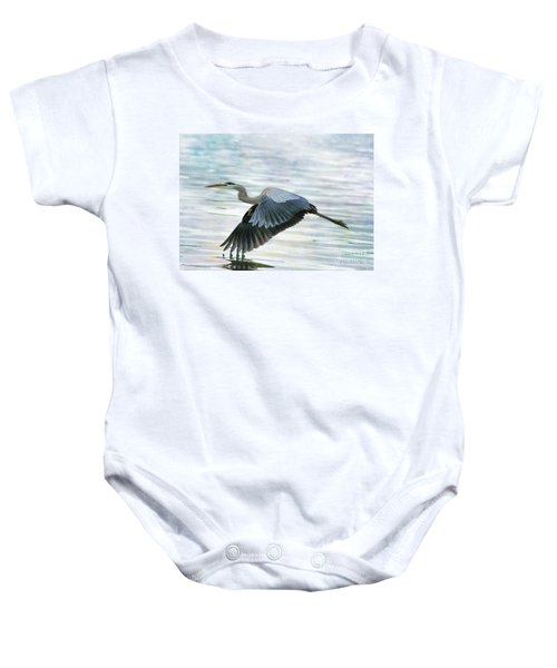 Blue With Grace And Beauty Baby Onesie