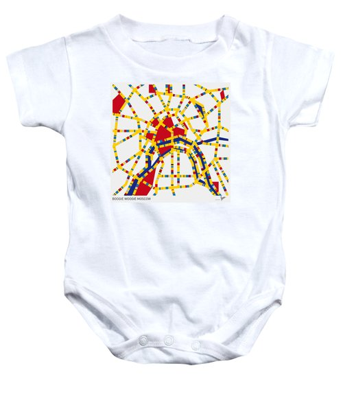 Boogie Woogie Moscow Baby Onesie by Chungkong Art