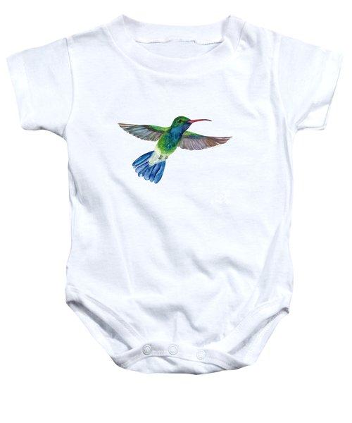 Broadbilled Fan Tail Hummingbird Baby Onesie