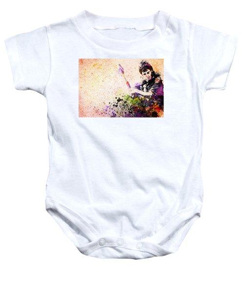 Bruce Springsteen Splats 2 Baby Onesie