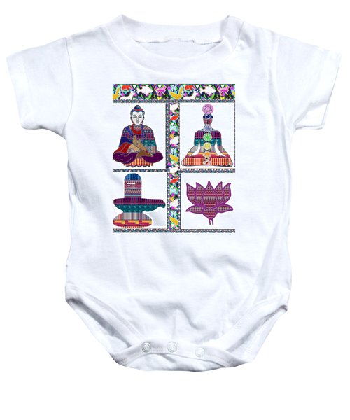 Buddha Yoga Chakra Lotus Shivalinga Meditation Navin Joshi Rights Managed Images Graphic Design Is A Baby Onesie by Navin Joshi