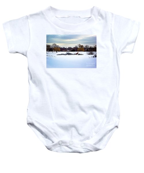 Canoes In The Snow Baby Onesie
