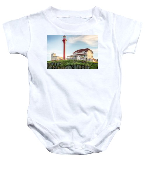 Cape Forchu Lighthouse Baby Onesie