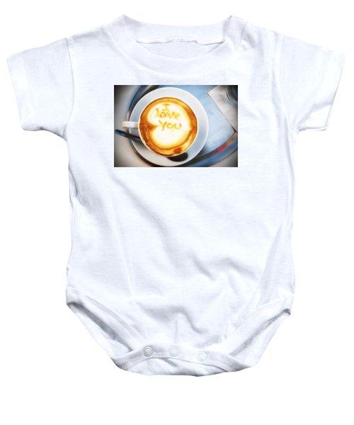 Cappuccino Baby Onesie