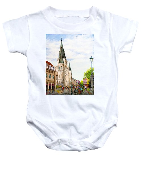 Cathedral Plaza - Jackson Square, French Quarter Baby Onesie