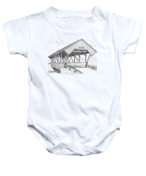 Chamberin Mill Covered Bridge Baby Onesie