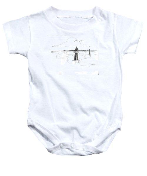 Channel Markers Ocracoke Inlet Baby Onesie