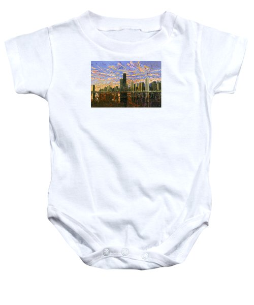 Chicago Baby Onesie by Mike Rabe