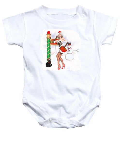 Christmas Elf Cleo Baby Onesie