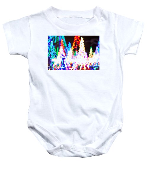 Christmas Lights Abstract Baby Onesie