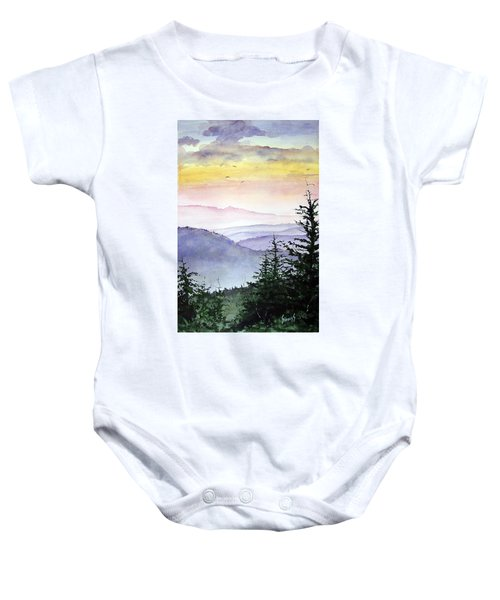 Clear Mountain Morning II Baby Onesie