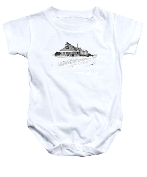 Coast Guard Station 1 Ocracoke 1970s Baby Onesie