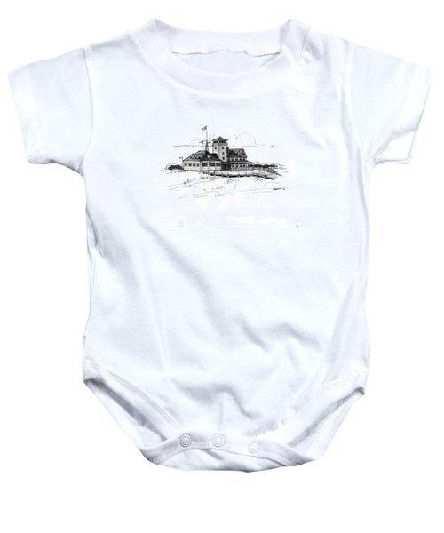 Coast Guard Station 2 Ocracoke 1970s Baby Onesie