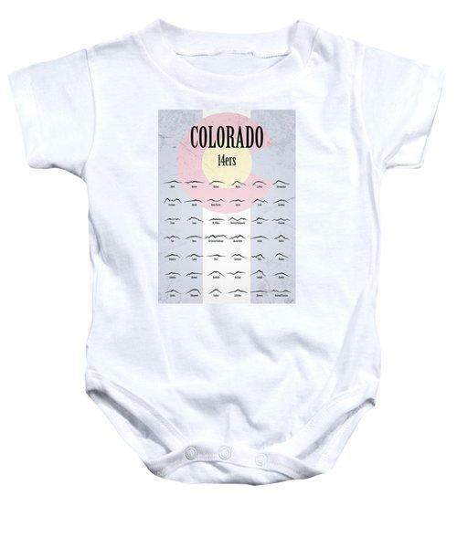Colorado 14ers Poster Baby Onesie