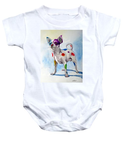 Colorful Dalmatian Chihuahua Baby Onesie