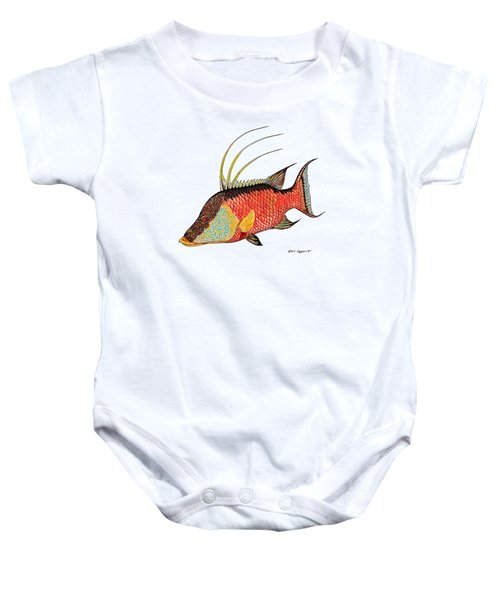 Colorful Hogfish Baby Onesie