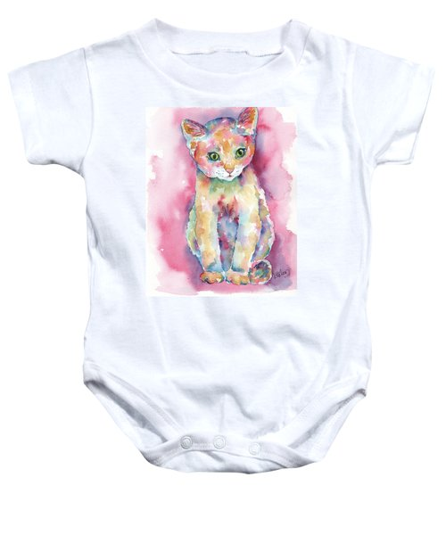 Colorful Kitten Baby Onesie