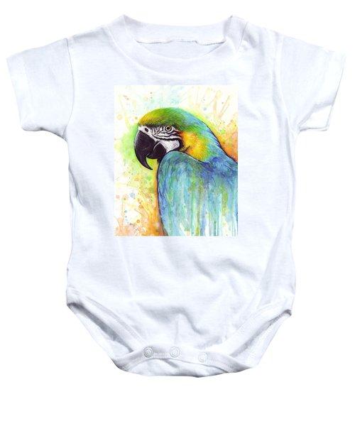 Macaw Painting Baby Onesie