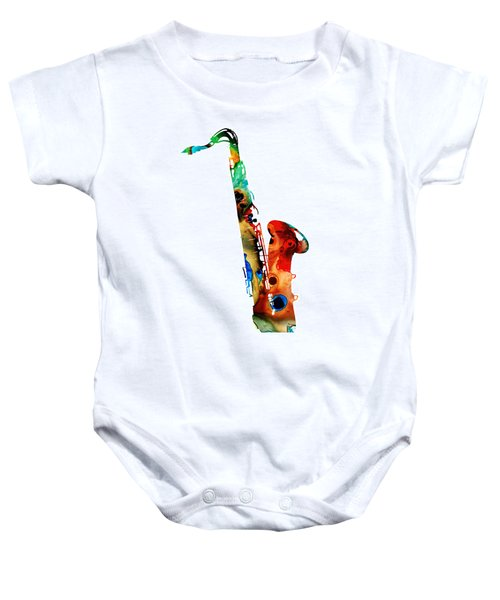 Colorful Saxophone By Sharon Cummings Baby Onesie