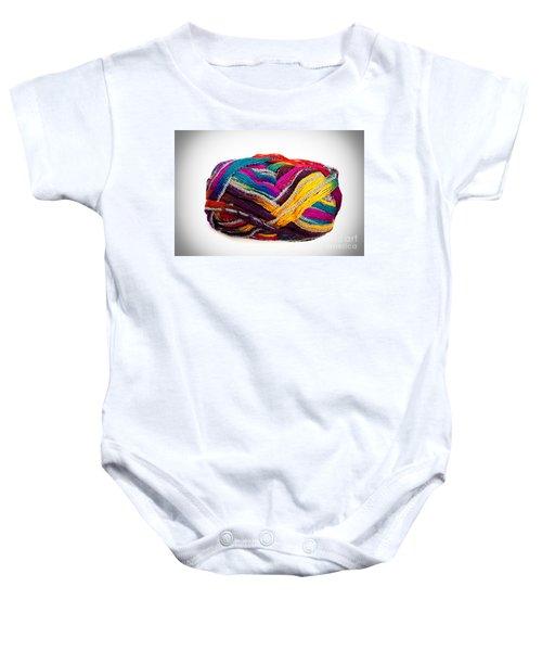 Colorful Yarn Baby Onesie
