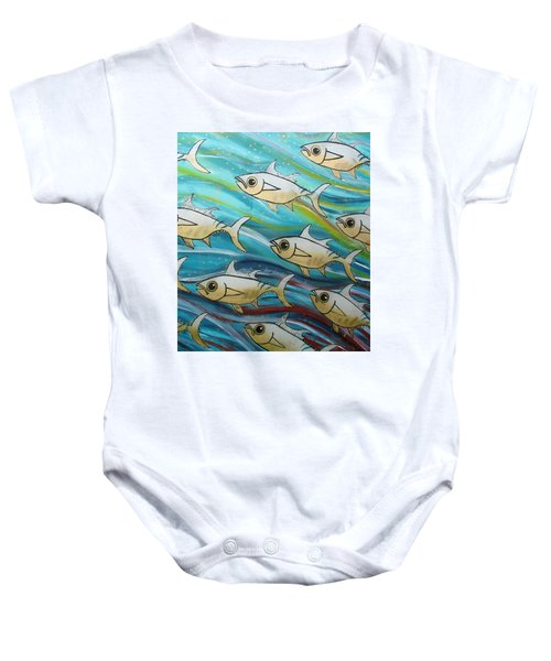 Coloured Water Fish Baby Onesie