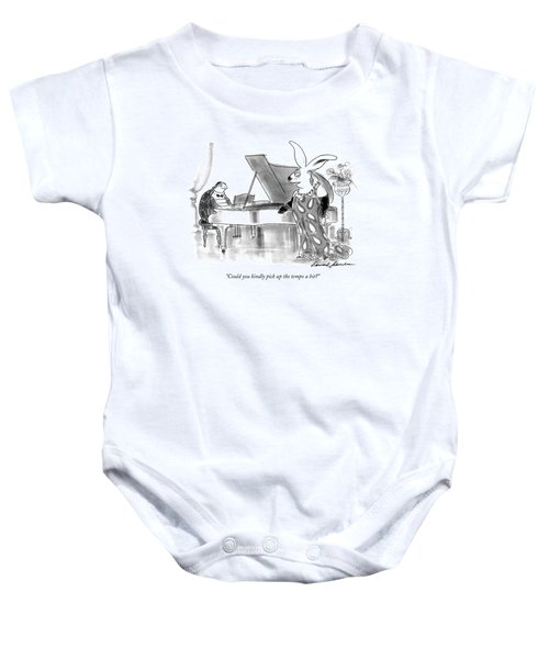Could You Kindly Pick Up The Tempo A Bit? Baby Onesie