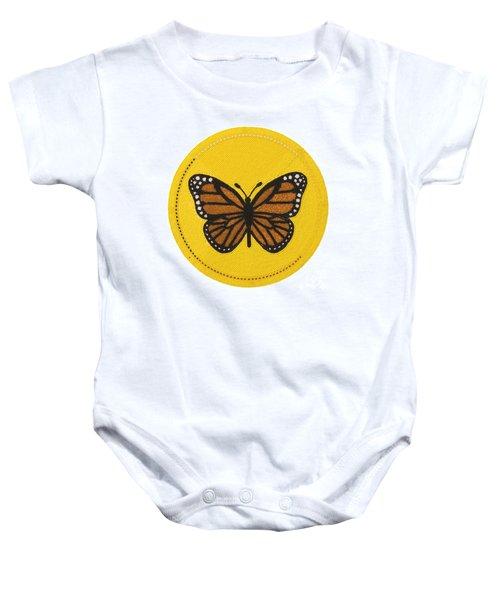 Cradleboard Beadwork Spring Butterfly Baby Onesie