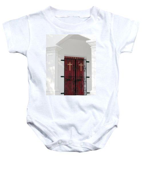Key West Church Doors Baby Onesie