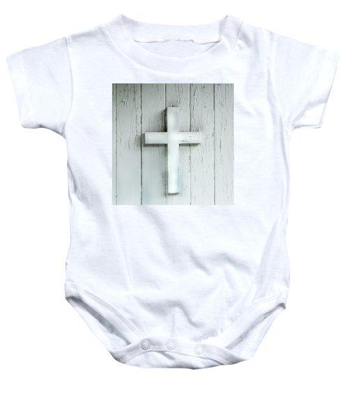 Cross On Holy Angels Sugar Island Michigan Baby Onesie