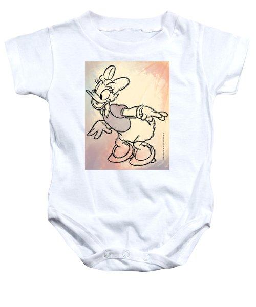 Daisy Duck Sketch Baby Onesie