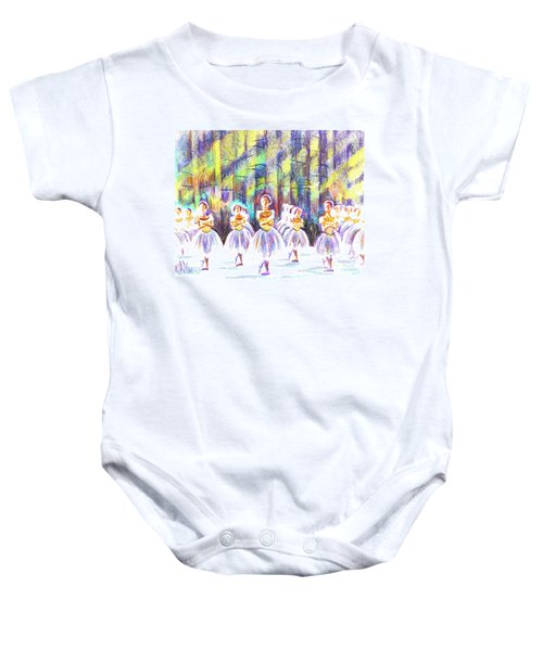 Dancers In The Forest Baby Onesie by Kip DeVore