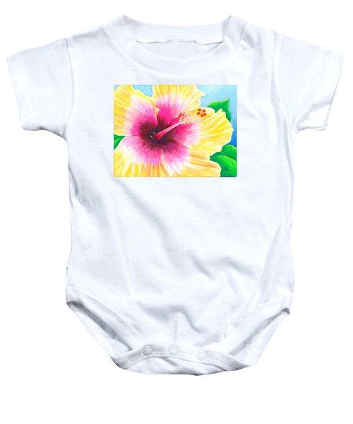 Dan's Hibiscus Baby Onesie