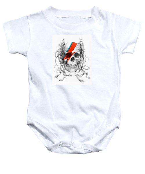 David Bowie Aladdin Sane Medusa Skull Baby Onesie