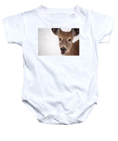 Deer Talk Baby Onesie