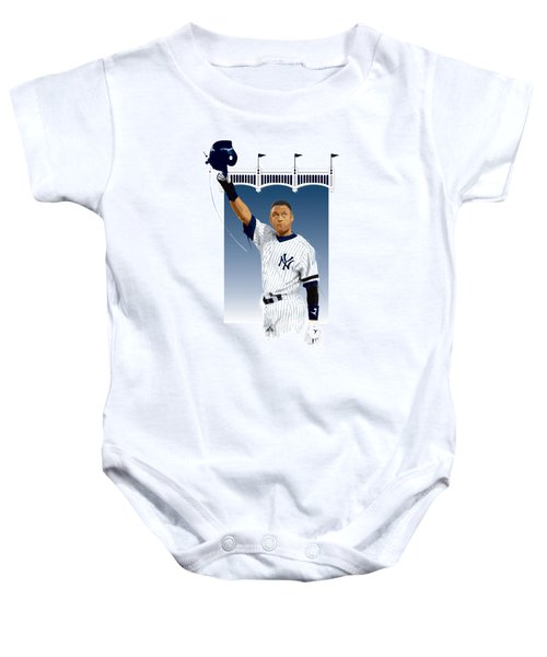 Derek Jeter 3000 Hits Baby Onesie by Scott Weigner