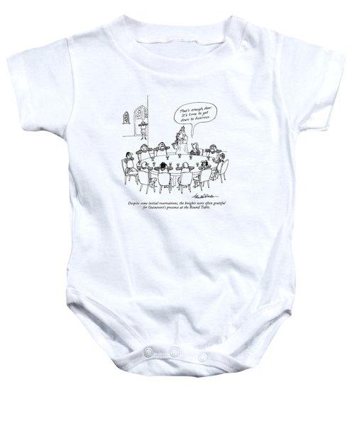 Despite Some Initial Reservations Baby Onesie by J.B. Handelsman